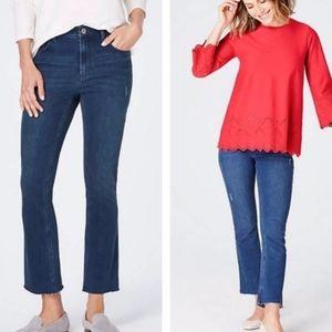 J. Jill Denim Kick Flare Ankle Jeans -  8P NWOT
